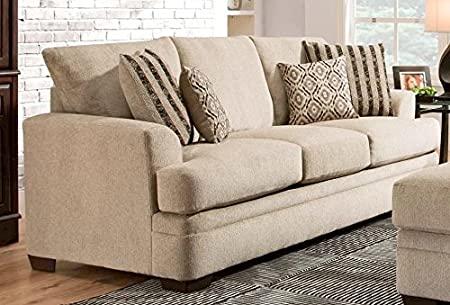 Chelsea Home Furniture Calexico Sofa, Cornell Platinum