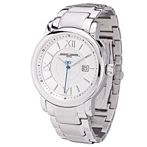 Jorg Gray Solid Stainless Steel Bracelet Silver Dial Men's watch #JG7200-25