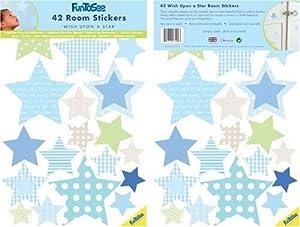 FunToSee Wish Upon A Star - Juego de pegatinas decorativas (42 unidades) en BebeHogar.com