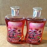 April Bath & Shower Body Care Cranberry Cherry Scented: (2 Bottles of Shower Gel)