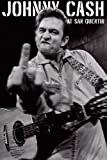 Johnny Cash Poster at San Quentin B&W,Finger