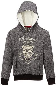 Redskins Kid Glow - Sweat-shirt à capuche - Fille - Gris (Grey Réglisse) - FR: 16 ans (Taille fabricant: 16 ans)