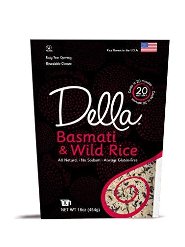 Della Basmati & Wild Rice - All Natural, 16 Ounce (Pack of 6) (Della Rice compare prices)