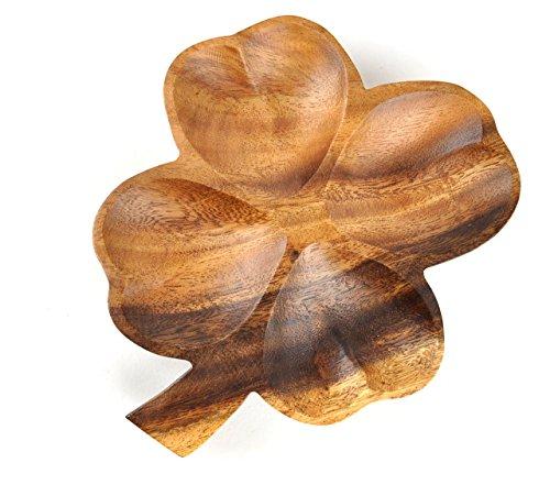 ウッド]RattleWood プレート お皿 アカシア トレイ (S) ランチプレート 木製 天然木 食器 おうちカフェ(クローバー)