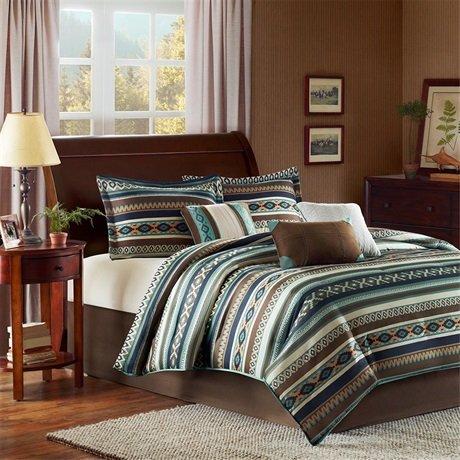 Madison Park Malone 7 Piece Comforter Set - Blue - Queen front-727311