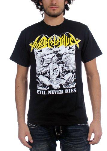 Toxic Holocaust-Evil Never Dies-Maglietta da uomo nero Medium