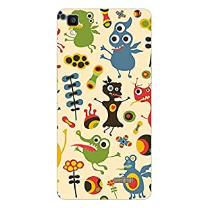 Garmor Designer Silicon Back Cover For Reliance Lyf Flame 2
