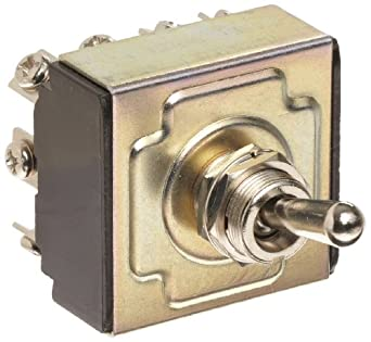"Morris Products 70305 Toggle Switches, 4 Pole, On/On, 1.44"" Width, 1.31"" Length, 0.80"" Height"