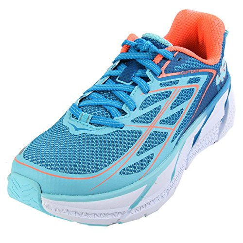 Hoka One One W Clifton 3 Blue Jewel Neon Coral 40.5