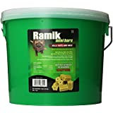 NEOGEN RODENTICIDE 64-Pack Ramik Rat and Mouse Bait Bars Pail, 1-Ounce