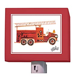 Oopsy Daisy Night Light, Red Fire Engine, 5\