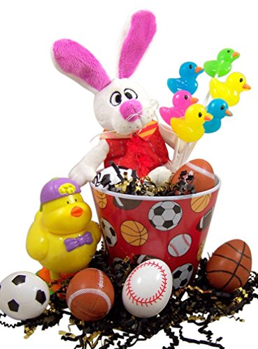 Easter gift basket buy easter gift basket products online in uae peter rabbit easter basket with chick candy dispenser and sports themed eggs negle Image collections