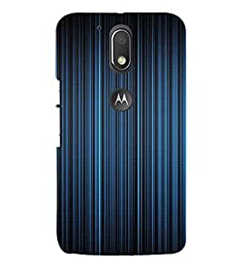PrintVisa Blue Stripes Design 3D Hard Polycarbonate Designer Back Case Cover for Motorola Moto G4 Plus