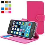 Snugg™ iPhone 5 / 5s Case - Leather Flip Case with Lifetime Guarantee (Hot Pink) for Apple iPhone 5 / 5s