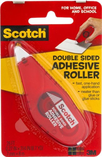 Scotch Roller Tape Double Sided 0.27 In. X 26 Ft. Purple