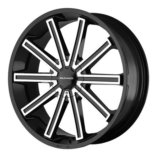 Kmc Km681 22 Black Wheel / Rim 5X4.5 & 5X4.75 With A 15Mm Offset And A 72.6 Hub Bore. Partnumber Km68122904315