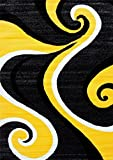 0327 Yellow 7'10x10'2 Area Rug Carpet Large New