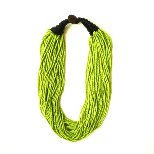 Green Macrame Necklace