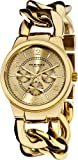 Akribos XXIV Women&#039;s AK531YG Twist Chain Quartz Multifunction Watch