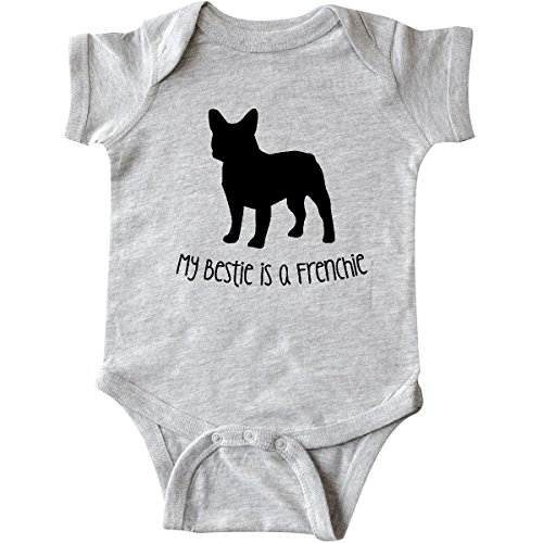 Inktastic Unisex Baby Bestie Frenchie Infant Creeper 6 Months Heather Grey (French Bulldog Onesie compare prices)