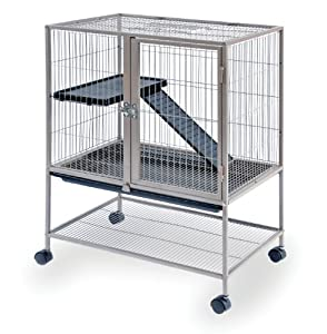 Prevue Pet Products Frisky Ferret Cage with Stand 486 Coco Brown, 25-Inch by 17.125-Inch by 34-Inch