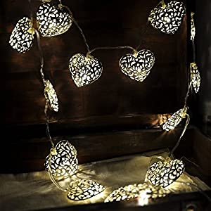 Heart shaped solar lights