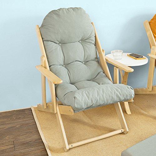 SoBuy® Poltrona relax,Sedia sdraio,Sedia pieghevole, Sdraio per il giardino,grigio, FST28-HG,IT