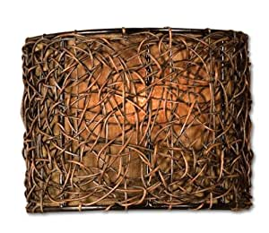 Uttermost 22466 Knotted Rattan 1 -Light Wall Sconce, Espresso Finish