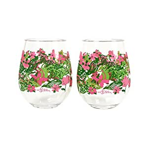 USD20 Amazon Gift Card Wedding Registry : Amazon.com Lilly Pulitzer Acrylic Stemless Wine Glass Set - Tiger ...