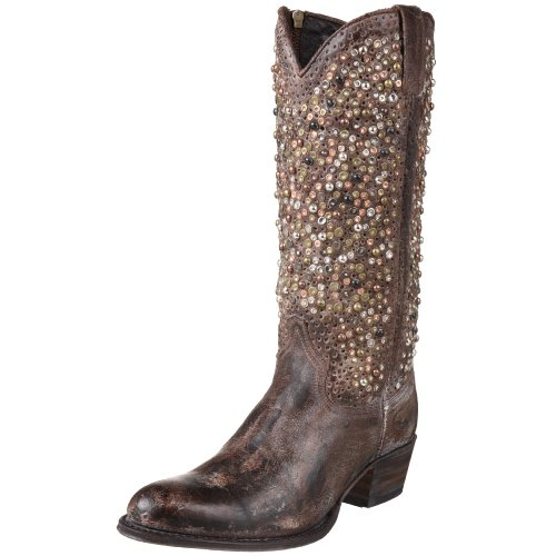 Frye Deborah Studded Tall Womens Cowboy Boots Deborah Studded Tall Gray 4 UK, 37 EU, 6 US