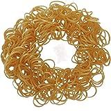 Ateam - Selection de 600 pieces d'élastiques bracelets 100% compatibles Loom, Crazy-Loom, Twitz bands + 25 clips - métallique d'or