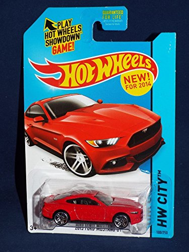 2014 Hot Wheels Hw City 2015 Ford Mustang GT - 1