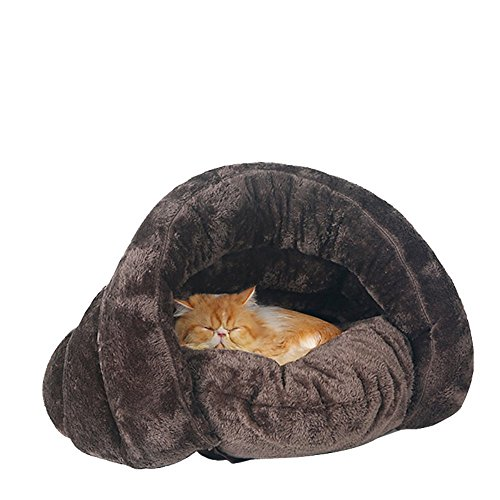 Comfy Pet Dog / Cat Bed, Perfect Sleeping Bag for Puppy or Cat or Kitten (Brown) (Canine Cooler Therapeutic Pad compare prices)