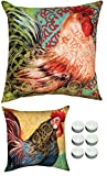 Manual Woodworkers SLBRST Boho Rooster Reversible Outdoor Indoor Pillow 18