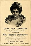 51GqxmI nHL. SL160  1902 Ad Mrs. Soules Eradicator Skin Brock Pimple Cream   Original Print Ad