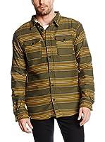 Burton Camisa Hombre Cole Sherpa (Oliva / Mostaza)