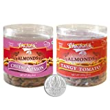 Chocholik Dry Fruits - Almonds Cheese Onion & Tangy Tomato With 5gm Pure Silver Coin - Diwali Gifts - 2 Combo...