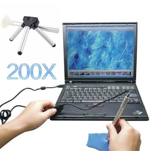 200X Portable Usb Digital Microscope Endoscope Inspection Otoscope Camera Led 5M