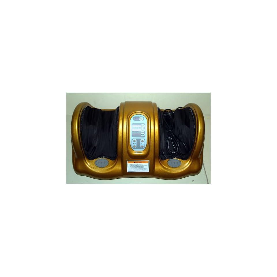 Portable Relaxing Reflexology Electric Foot Massager [Gold]