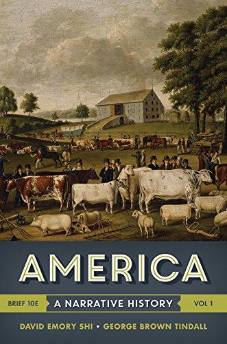cheapest copy of america  a narrative history  brief tenth edition   vol  1  by david e  shi
