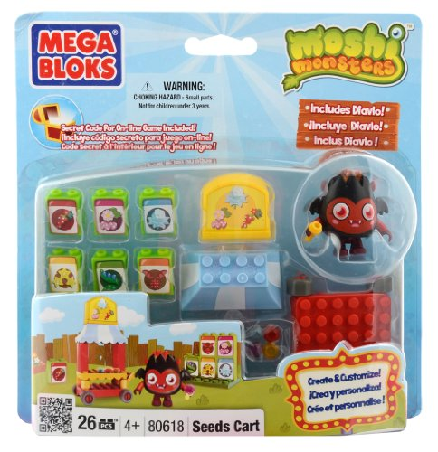 Moshi Monsters Mega Bloks Set #80618 Seed Cart
