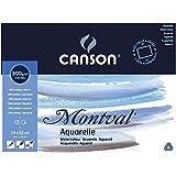 Canson Montval Bloc aquarelle 12 feuilles 300g/m² Grain fin 24 x 32 cm Blanc Naturel