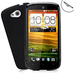 Sleek Impact-Resistant Case with Accessory Genie Stylus for AT&T HTC One VX