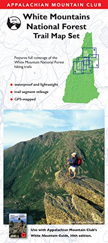 AMC White Mountain National Forest Trail Map Set (Appalachian Mountain Club)