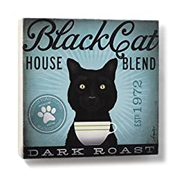 DEMDACO Cat Wall Art, Black