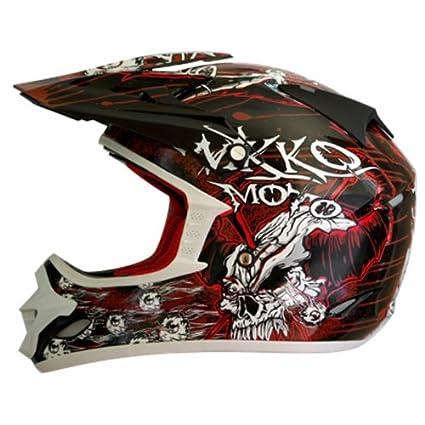 Nikko n-719 casque cross taille xXL (noir/rouge)