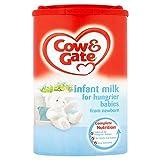 Cow & Gate Infantil Leche para bebés más hambre de 900g recién nacido (Pack de 6 x 900g)