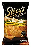 Stacys Pita Chips, Parmesan Garlic & Herb, 18-Ounce Bags (Pack of 6)