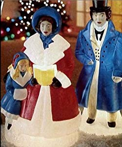 Outdoor Christmas Carolers Decorations http://www.amazon.com/Illuminated-Outdoor-Victorian-Christmas-Carolers/dp/B004JXVDXM