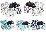 PiercingJ-Ohrpiercing-Ohrstecker-Set-24-Paare-Acryl-Mix-Spirale-Schnecke-Taper-Splash-Flesh-Schraub-Tunnel-Set-Tunnelset-Dehnstab-Dehnungssichel-Dehnungsset-Ohr-Expander-Piercing-Set-2-12mm-Stabstrke